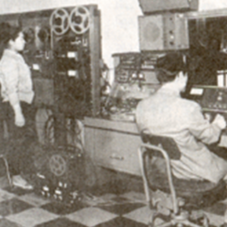 1966년 장충동 시절 최 성락 회장의 녹음장면
