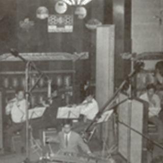 1966년 장충동 녹음실 녹음전경